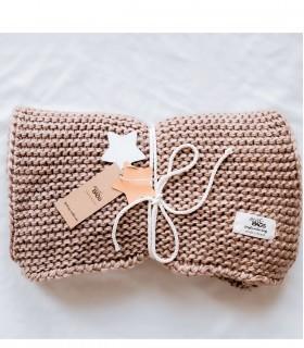 woolen scarf Beige melange
