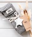 Grey wool thigh highs socks