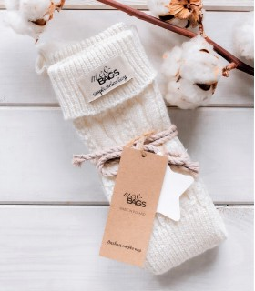White wool thigh highs socks