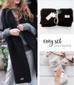 Cozy set BLACK&WHITE: hight tights socks & scarf
