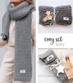 Cozy set GREY: hight tights socks & scarf