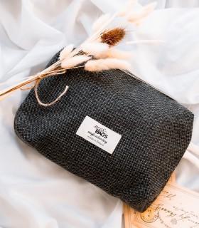 copy of woolen scarf gray melange