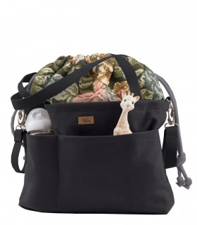 "MOM BAG ""ME&BABY"" black with flowers"