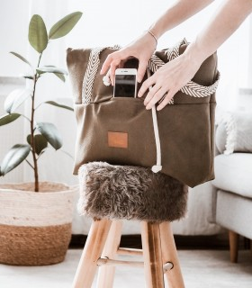 SHOPPER BAG BAGGERKA ECO-SUEDE TAUPE