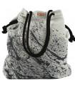 Tkaninowa torebka basic me 15 z efektem czarnej farby