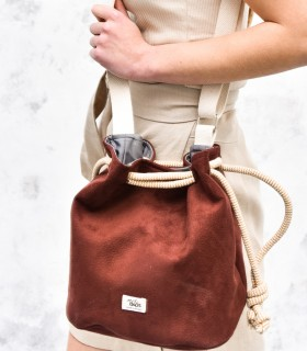 copy of Basic me 16 Bucket Bag eco suede KHAKI