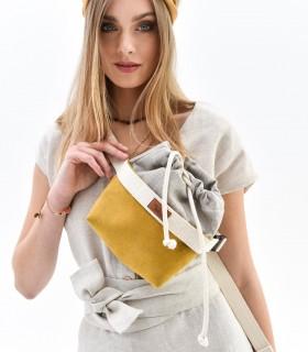 Nerka damska z eko-zamszu, żółta
