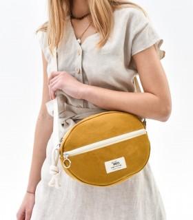 Almond Bag - torebka elipsa, żółta