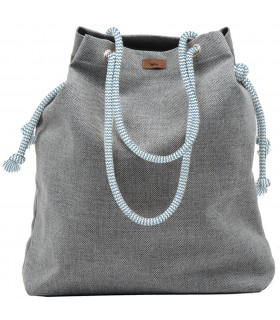 Basic me 15 fabric handbag - gray