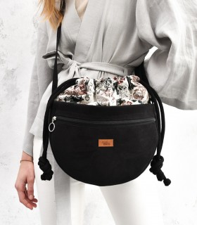 copy of Crossbody Bag, color black with jacquard fabric