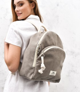 copy of WOMEN'S BACKPACK DUO ECO-SUEDE GRAY