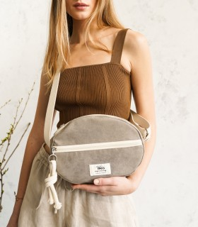 Almond Bag - torebka elipsa, kolor taupe