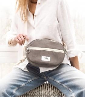 Almond Bag - torebka elipsa, szara