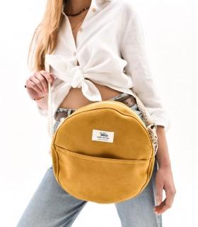 """Okrúhla taška """"MOON BAG"""" cez rameno, žltá"""