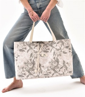 copy of Black shopper bag with zip-pocket