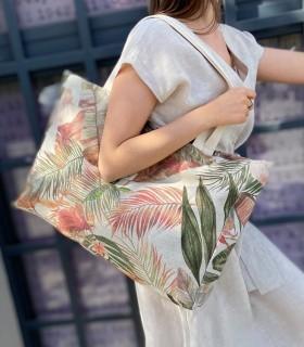 ALL-IN BAG, tkaninowa torba na WSZYSTKO, lniana w palmy