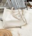 ALL-IN BAG, tkaninowa torba na WSZYSTKO, kremowa z jodełką