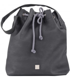 Basic me 16 bag made of eco leather in gray-ash