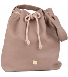 Basic me 16 bag made of caramel eco leather