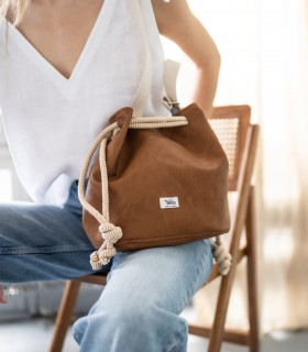 copy of Bucket Bag eco suede grey