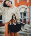 copy of Crossbody Bag, color black with jacquard fabric