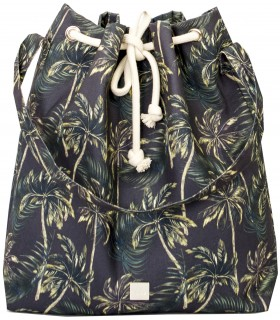 SACK BAG ME 15 FABRIC black palm trees