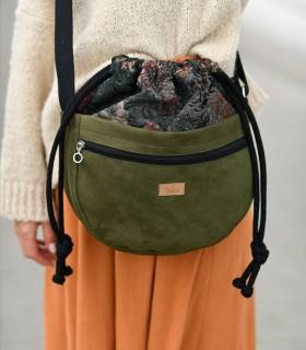 Messenger taška cez plece, zelená s vzorom