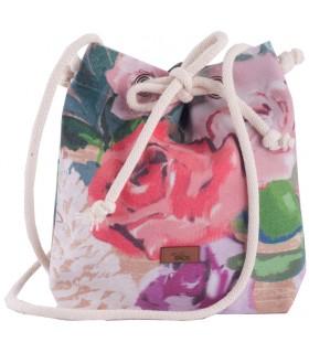 Mała torebka materiałowa w kwiaty