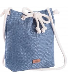 Mała tkaninowa torebka basic niebieska