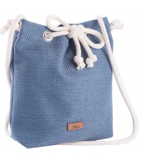 Small basic fabric handbag blue