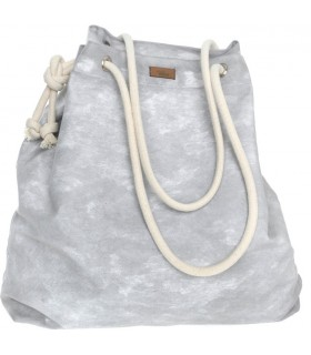 Tkaninowa torebka basic me 15 w szarą chmurkę