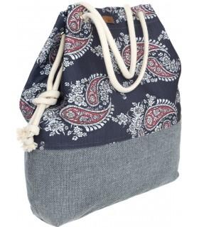 Basic me 15 fabric handbag - boho navy blue