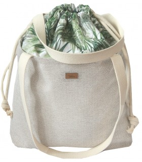 "SACK BAG ""Duo Bag"" fabric palm trees"