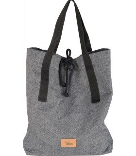 Duża tkaninowa torebka basic- weekend bag