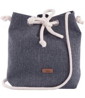 Mała tkaninowa torebka basic popiel