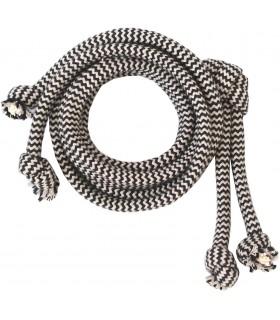 Bawełniany sznurek Szary ZIG-ZAG