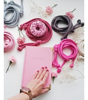 Cotton pink string