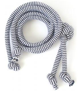 Bawełniany sznurek Granatowy ZIG-ZAG