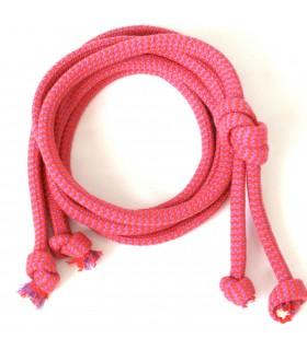 Bawełniany sznurek Bordowy ZIG-ZAG