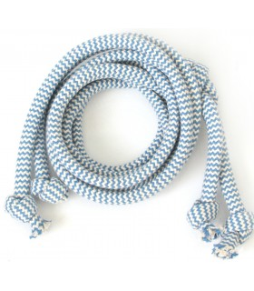 Cotton blue string ZIG-ZAG