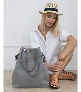 Basic me 15 fabric handbag - gray
