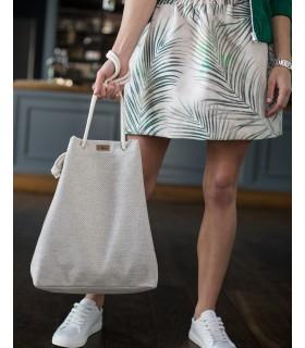 Basic me 15 fabric handbag - cream