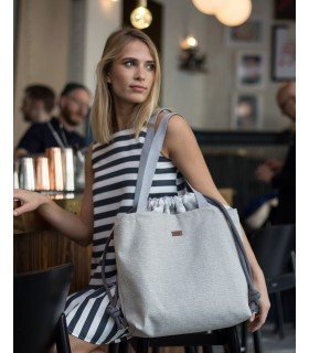"Basic me 19 ""Duo stripes"" bag with bright stripes"