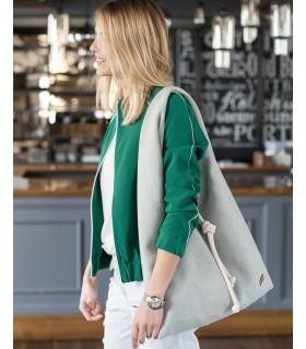 Fabric handbag me 14 Boho bag - mint