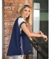 Fabric handbag me 14 Boho bag - navy blue