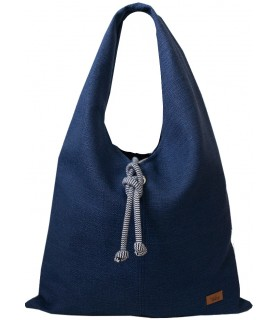 Fabric handbag me 14 Boho bag - navy blue
