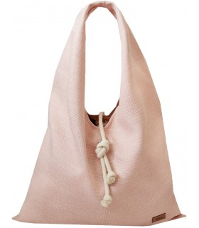 Fabric handbag me 14 Boho bag - pale pink