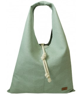 Fabric handbag me 14 Boho bag - mint