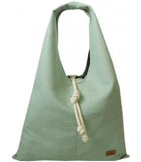 """Textilná taška """"BOHO"""", mäta"""