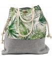Tkaninowa torebka basic me 15 w cienkie palmy